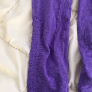 lululemon athletica Pants - Lululemon In The Flow Cropped Purple Leggings